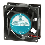 "Orion OD8032-12HB Cooling Fan - 12VDC 80 x 32mm 3.15"" x 1.25"" High Speed"