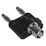 Philmore 2382 BNC Female to Dual Banana Plug Adaptor