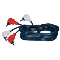 Philmore 44-703 3' Dual RCA Cable Right Angle