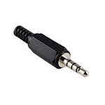 Philmore 70-047 Mini Phone Plug, 4-Conductor 3.5mm In-line