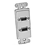 Philmore 75-1017 Wall Plate Insert, Dual HD-15 Feed Thru Jack, White