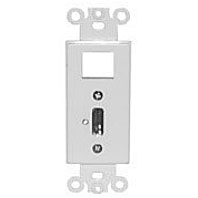 Philmore 75-1234 Wall Plate Insert, Keystone-HDMI Jack Designer Style White