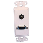 Philmore 75-1315 Wall Plate, HD15-3.5mm Stereo Jack, Designer Style, White