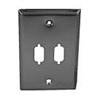 Philmore DW29 D-Sub Wall Plate DB9 Dual Stainless Steel