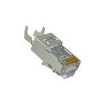 Platinum Tools 100023 Shielded EZ-RJ45 Connectors for CAT5e & CAT6 with External Ground - 10/pkg