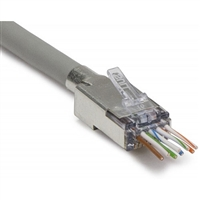 ezEX48 CAT6A Shielded Connectors with External Ground | 100027C Platinum Tools