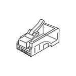 Platinum Tools 106152 RJ45 8P8C CAT5e Connectors for Solid Wire - 25/pkg