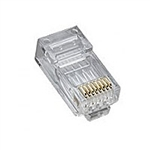 Platinum Tools 106167 RJ45 CAT5e High Performance Plug, Round-Solid 3-Prong 8P8C - 25/pkg