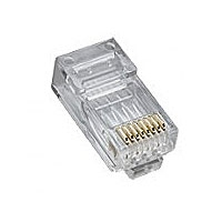 Platinum Tools 106168 RJ45 CAT5e High Performance Plug, Round-Solid 3-Prong 8P8C - 100/Jar