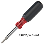 Platinum Tools 19003 PRO 6 in 1 Screwdriver includes Security Torx & Nut Driver Bits