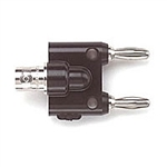 Pomona 1269 Banana Plug Adapter, BNC female to Double Stack Banana Plug