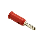 Pomona 1325-2 Solderless Stackup Banana Plug, 10 Per Package, Red