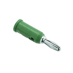 Pomona 1325-5 Solderless Stackup Banana Plug, 10 Per Package, Green