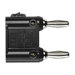 Pomona 1330-0 Double Banana Plugs, Solderless Black