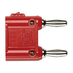 Pomona 1330-2 Double Banana Plugs, Solderless Red