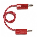 Pomona Banana Plug Patch Cord Red HB-36-2/P