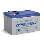 Powersonic PS-12100F2 SLA Battery 12v 12ah Rechargeable Sealed Lead Acid with F2 terminals