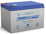 Powersonic PS-12120F2 SLA Battery 12v 12ah Rechargeable Sealed Lead Acid