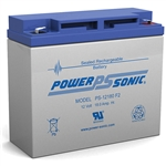 Powersonic PS-12180F2 SLA Battery 12v 18ah Rechargeable Sealed Lead Acid