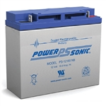 Powersonic PS-12180NB SLA Battery 12v 18ah Rechargeable Sealed Lead Acid with Nut & Bolt Terminals