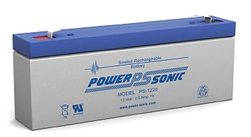 Powersonic PS-1220F1 SLA Battery 12v 2.5ah Rechargeable Sealed Lead Acid