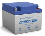 Powersonic PS-12260NB SLA Battery 12v 26ah Rechargeable Sealed Lead Acid with Nut & Bolt terminals