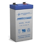 Powersonic PS-260F1 SLA Battery 2V 6ah Rechargeable Sealed Lead Acid