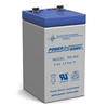 Powersonic PS-445F2 SLA Battery 4v 4.5ah Rechargeable Sealed Lead Acid