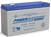Powersonic PS-6100 SLA Battery 6v 12ah Rechargeable Sealed Lead Acid
