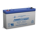 Powersonic PS-612F1 SLA Battery 6v 1.4ah Rechargeable Battery Sealed Lead Acid