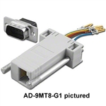 Pan Pacific AD-25MT8-G1<br>RJ45 to 25pin male D-Sub Adapter Kit