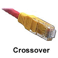 CAT6 Crossover Patch Cable 10ft.</br>w/Molded Strain Relief