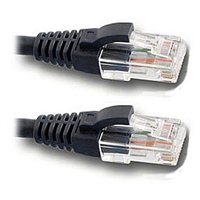 Pan Pacific DC-568P-3BKMB CAT6 Patch Cable 3ft. Black with Snagless Molded Boot