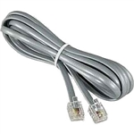PT-504X-3SV Telephone Cord - Silver Satin - 3ft.