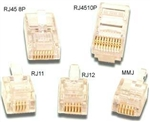 Pan Pacific PT064RS<br>RJ11 Telephone Modular Plug for Solid Conductor Round Cable (CAD 70-496R)