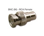 Pan Pacific RFA-8393-75<br>BNC Male to RCA Female Adapter 75 ohm<br>(CAD 75-694)