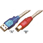 S-USBAB0-03-P</br>USB 2.0 CABLE A-B 3ft. 20GA