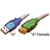 USB 2.0 Extension Cable, USB-A Male to Female, 10ft. 20AWG | S-USBAMF0-10-P Pan Pacific