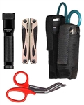 Ripoffs BL-145 Holster for 3-Pocket Combo for Tools & Flashlights - Belt-Loop Version