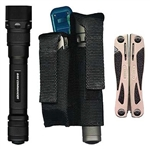 Ripoffs BL-121 Combo Holster for Large Gerber Legend & Laser-type Flashlight - Belt-Loop Version