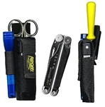 Ripoffs CO-13FL Holster for Combo Plier and File Sheath with Security Flap w/Flashlight Loop - Clip-On Version