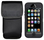 Ripoffs CO-286i Holster for Apple iPhone 5 w/OtterBox Defender or Large Rubbery Case - Clip-On Version