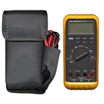 "Ripoffs CO-50FP Holster with Cable Pocket for Large Fluke or Scanner - fits 8"" x 4"" x 1"" - Clip-On Version"
