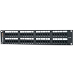"Signamax 48458MD-C5E 48-Port Category 5e Patch Panel, T568A/B Wiring, 3.50""- High"