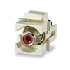 Signamax CMK-RCAR-WH RCA Keystone Connector, Red Feed-Thru Module, White