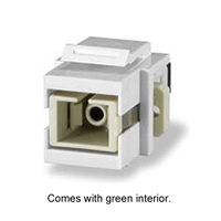CMK-SCG-WH Signamax SC OM3 / OM4 Fiber Optic Keystone Connector Coupler Module, White