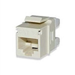 Signamax KJ458MT-C5E CAT5e Keystone Jack Connector Light Ivory MT-Series High-Density T568A/B