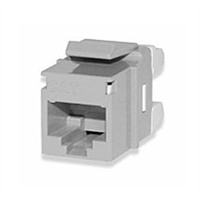 KJ458MT-C5E-GY Signamax CAT5e Keystone Jack Connector Gray MT-Series High-Density T568A/B