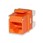 Signamax KJ458MT-C5E-OR CAT5e Keystone Jack Connector Orange MT-Series High-Density T568A/B