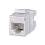 Signamax KJ458MT-C5E-WH CAT5e Keystone Jack Connector White MT-Series High-Density T568A/B